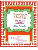 Christmas Themed 4th Grade enVision Math Questions 30 task cards
