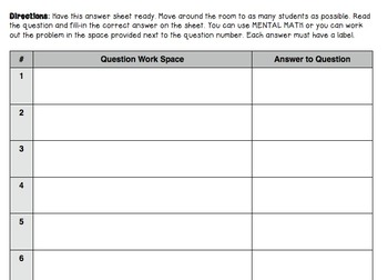 Christmas Themed 5th Grade enVision Math Game Questions 30 task cards
