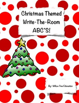 Christmas Themed ABC Write-the-Room!
