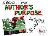 Christmas Themed Activities for Author's Purpose (Freebie)