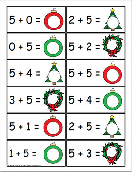 Christmas Themed Addition Centers and Activities for Kindergarten