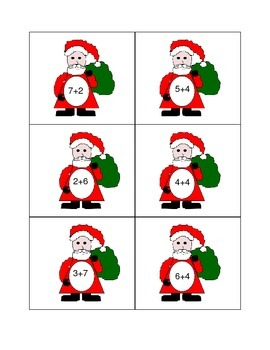 Christmas Themed Addition, Equal Sign, and Commutative Properties