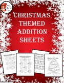Christmas Themed Addition Worksheets