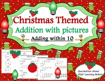 Christmas Themed Addition with Pictures (adding within 10):