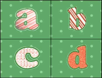 Christmas Themed Alphabet Cards