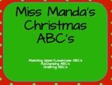 Christmas Themed Alphabet Cards