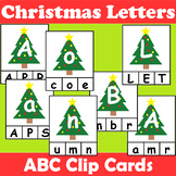 Christmas Themed Alphabet Clip Cards