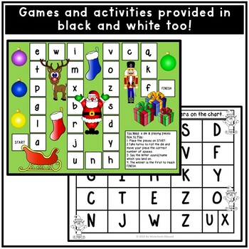 Christmas Alphabet Letters Game and Activities