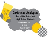 Christmas Themed Analogies for Middle & High School Students