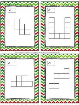 Christmas Themed Area and Perimeter Task Cards & Game