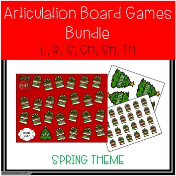 Christmas-Themed Articulation Board Games BUNDLE