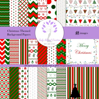 Christmas Themed Background Papers