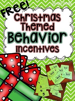 Christmas Themed Behavior Management Incentives
