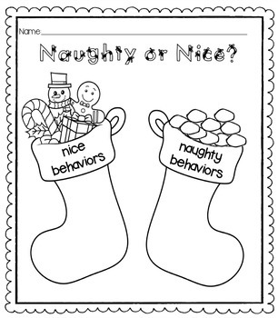 Christmas-Themed Behaviors Review Sheet
