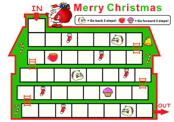 Christmas Themed Blank Game Board