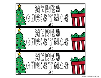 Christmas Themed Bookmarks EDITABLE
