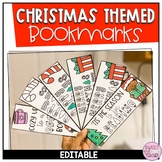 Christmas Themed Bookmarks EDITABLE