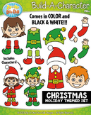 Christmas Build-A-Character Clipart {Zip-A-Dee-Doo-Dah Designs}