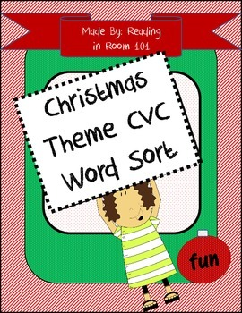 Christmas Themed CVC Real and Nonsense Word Sorting Activity