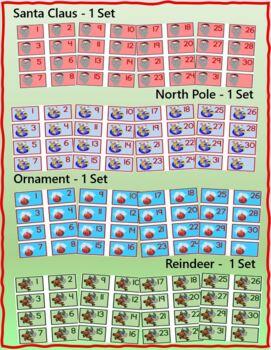 Christmas Themed Calendar Numbers