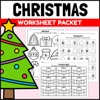 Christmas Themed Centers and Activities for PreK and Kindergarten
