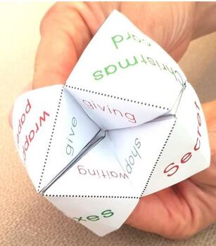 Christmas Themed Chatterbox Vocabulary Game with Christmas Jokes