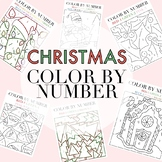 Christmas Themed Color By Numbers by Taracotta Sunrise