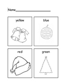 Christmas Themed Color Word Worksheet