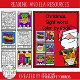 Christmas Color by Code Sight Word Coloring Sheets