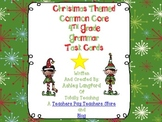 Christmas Themed Common Core Grammar Practice Task Cards for Fourth Grade