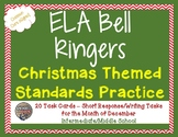 Middle School Bell Ringers - Christmas ELA Common Core Tas