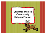 Christmas-Themed Community Helpers Packet