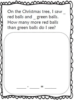 Christmas Themed Compare Story Problems