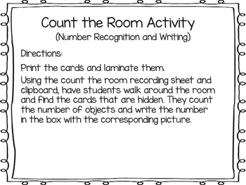 Christmas Themed Count, Read and Write the Activity: