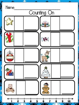 Christmas Themed Count the Room (Kindergarten Math)
