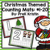 Christmas Themed Playdough (Counting) Mats: #1-20