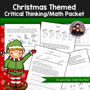 Christmas Themed Critical Thinking Packet