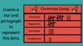 Christmas Themed Data and Graphing - Practice Creating Bar