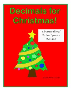 Christmas Themed Decimal Activities (All Operations)