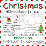 Christmas Themed Differentiated Journal Writing for Specia