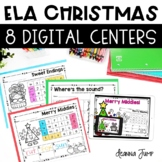 Christmas Themed Digital ELA Centers