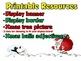 Christmas Themed Display Board - Adjectives