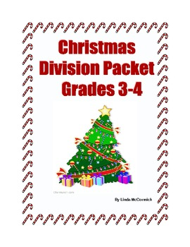 Christmas Themed -Division for Grades 3-4-Sequenced Printable Worksheets