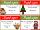 Christmas Themed Editable Thank You Notes Freebie