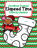Christmas Themed Elapsed Time on a Number-line (within the hour)
