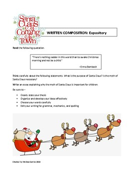 Christmas Themed Expository Prompts