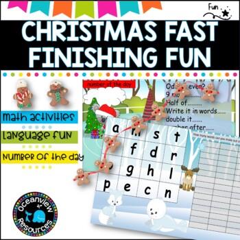 Christmas Themed Fast Finishers activity bundle
