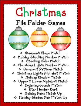 Christmas Themed File Folder Games