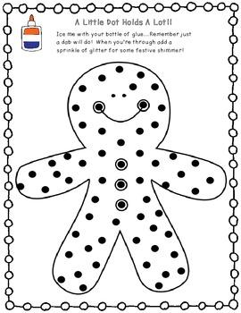Christmas Themed Glue Dot Practice