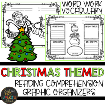 Christmas Themed Graphic Organizers for Reading Comprehension